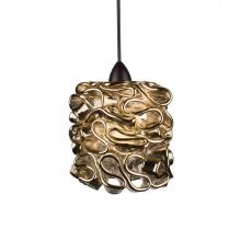 WAC US QP544-GL/DB - Candy Quick Connect Pendant - Gold Shade With Dark Bronze Socket Set