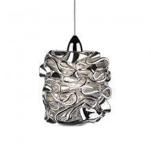 WAC US QP544-SL/BN - Candy Quick Connect Pendant - Silver Shade With Brushed Nickel Socket Set