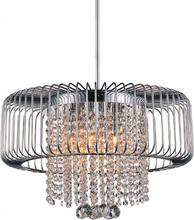 Crystal World 5547P18C - 6 Light Chrome Down Chandelier