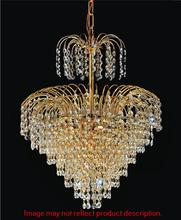 Crystal World 8011P16C - 8 Light Chrome Down Chandelier