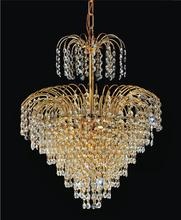 Crystal World 8011P16G - 8 Light Gold Down Chandelier