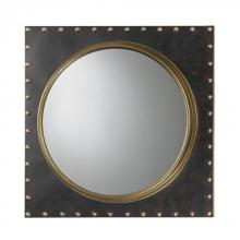 Sterling Industries 51-004 - Metal Frame Rivet Porthole Mirror