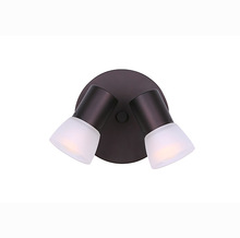 "Canarm ICW517A02ORB - HUDSON, ICW517A02ORB, 2 Lt Ceiling/Wall,  Frosted Glass, 60W HUDSON or R16, 6 1/4"" x 6 1/4"""
