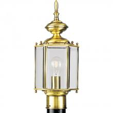Progress P5430-10 - One Light Clear Beveled Glass Polished Brass Post Light