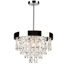 Artcraft AC10110 - Elegante 3 Light AC10110 Chrome Chandelier