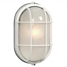 Galaxy Lighting 305013 WHT - Cast Aluminum Marine Light with Guard - White w/ Frosted Glass