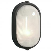 Galaxy Lighting 305113 BLK - Cast Aluminum Marine Light - Black w/ Frosted Glass