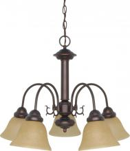 "Nuvo 60/1251 - Ballerina  5 Light  24""  Chandelier  w/ Champagne Linen Washed Glass"