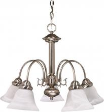 "Nuvo 60/181 - Ballerina - 5 Light - 24"" - Chandelier - w/ Alabaster Glass Bell Shades"