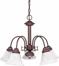 "Nuvo 60/183 - Ballerina - 5 Light - 24"" - Chandelier - w/ Alabaster Glass Bell Shades"