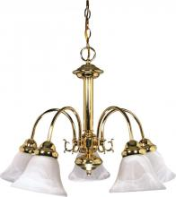 "Nuvo 60/185 - Ballerina - 5 Light - 24"" - Chandelier - w/ Alabaster Glass Bell Shades"