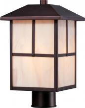 Nuvo 60/5675 - Tanner 1 LT Outdoor Post Fixture w/ Honey Stained Glass