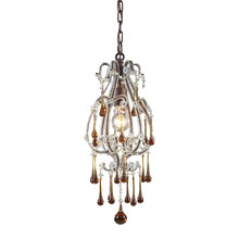 ELK Lighting 12013/1AMB - One Light Rust Down Mini Pendant