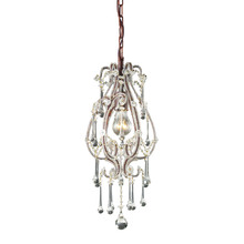 ELK Lighting 12013/1CL - One Light Rust Down Mini Pendant