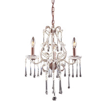 ELK Lighting 4011/3CL - Opulence 3 Light Chandelier In Rust And Clear Cr