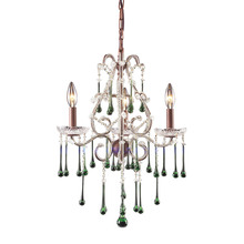 ELK Lighting 4011/3LM - Opulence 3 Light Chandelier In Rust And Lime Cry