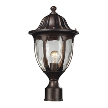 ELK Lighting 45005/1 - Glendale 1 Light Outdoor Post Mount In Regal Bronze And Water Glass
