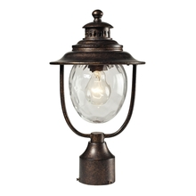 ELK Lighting 45032/1 - Searsport 1 Light Outdoor Post Lamp In Regal Bronze And Water Glass