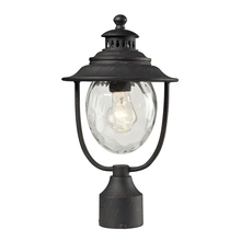 ELK Lighting 45042/1 - Searsport 1 Light Outdoor Post Lamp In Weathered Charcoal