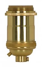 Satco Products Inc. 80/2565 - Medium base lampholder; 4pc. Solid brass; Keyless; 2 Uno rings; Polished brass finish