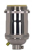 Satco Products Inc. 80/2566 - Medium base lampholder; 4pc. Solid brass; Keyless; 2 Uno rings; Polished nickel finish