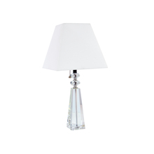 Dainolite C503T-PC - 1LT Crystal Table Lamp, Polished Chrome Finish