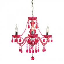 Sterling Industries 144-014 - Theatre-3 Light Cerise Pink Mini Chandelier