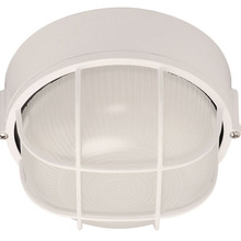 Canarm IOL1711 - Outdoor, IOL17 WH,  1 Bulb Outdoor Marine Light, Frosted Glass, 60W Type A or B