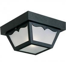 One Light Black White Acrylic Diffuser Glass Outdoor Flush Mount (659VQ)