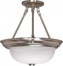 "Nuvo 60/3185 - 2 Light  13""  Semi-Flush w/ Alabaster Glass - (2) 13w GU24 Lamps Included"
