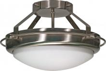 "Nuvo 60/609 - Polaris - 2 Light - 14"" - Semi-Flush - w/ Satin Frosted Glass Shades"