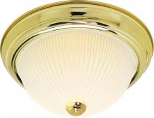 "Nuvo SF76/132 - 2 Light - 13"" - Flush Mount - Frosted Ribbed"