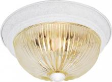 "Nuvo SF76/192 - 2 Light - 13"" - Flush Mount - Clear Ribbed Glass"