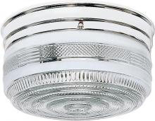 "Nuvo SF77/102 - 2 Light - 10"" - Flush Mount - Large Crystal / White Drum"