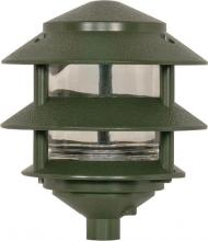 "Nuvo SF77/323 - 1 Light - 8"" - Pathway Light - Two Louver, Small Hood"