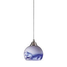 ELK Lighting 101-1MT - Mela 1 Light Pendant in Satin Nickel And Mountai