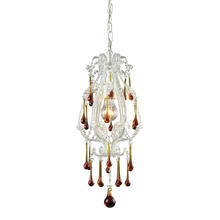 ELK Lighting 12003/1AMB - Opulence 1 Light Pendant In Antique White And Am