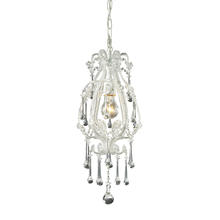 ELK Lighting 12003/1CL - Opulence 1 Light Pendant In Antique White And Cl