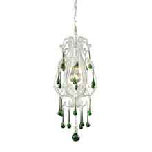 ELK Lighting 12003/1LM - Opulence 1 Light Pendant In Antique White And Li