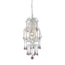 ELK Lighting 12003/1RS - Opulence 1 Light Pendant In Antique White And Ro