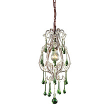 ELK Lighting 12013/1LM - Opulence 1 Light Pendant In Rust With Lime Cryst