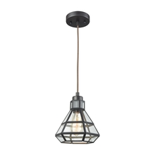 ELK Lighting 57126/1 - Window Pane 1 Light Pendant In Oil Rubbed Bronze